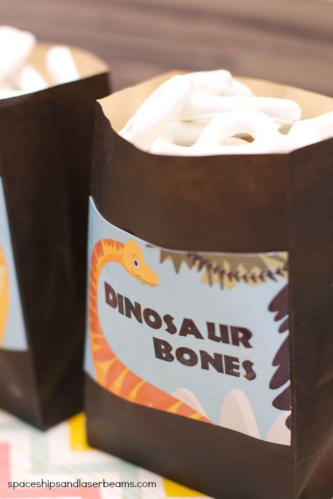 Dinosaur Party Dessert Table Ideas - Spaceships and Laser Beams