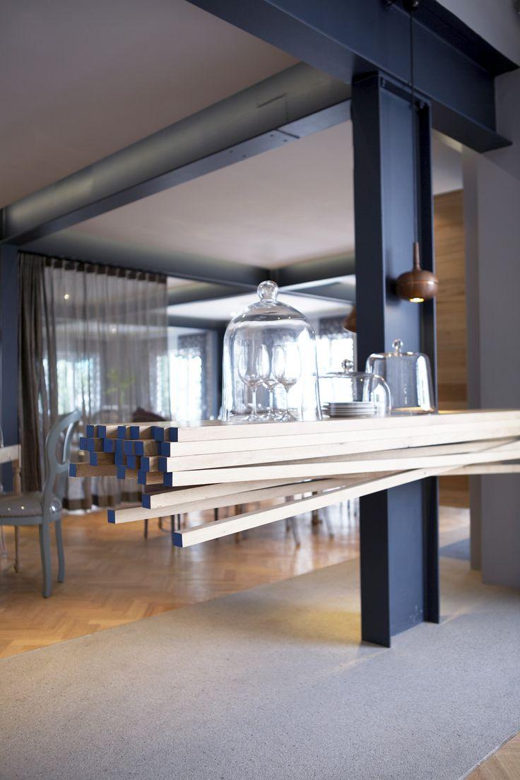 Restaurant | Server | Oak | James Mudge | Herringbone floor | Etienne Hanekom Interiors
