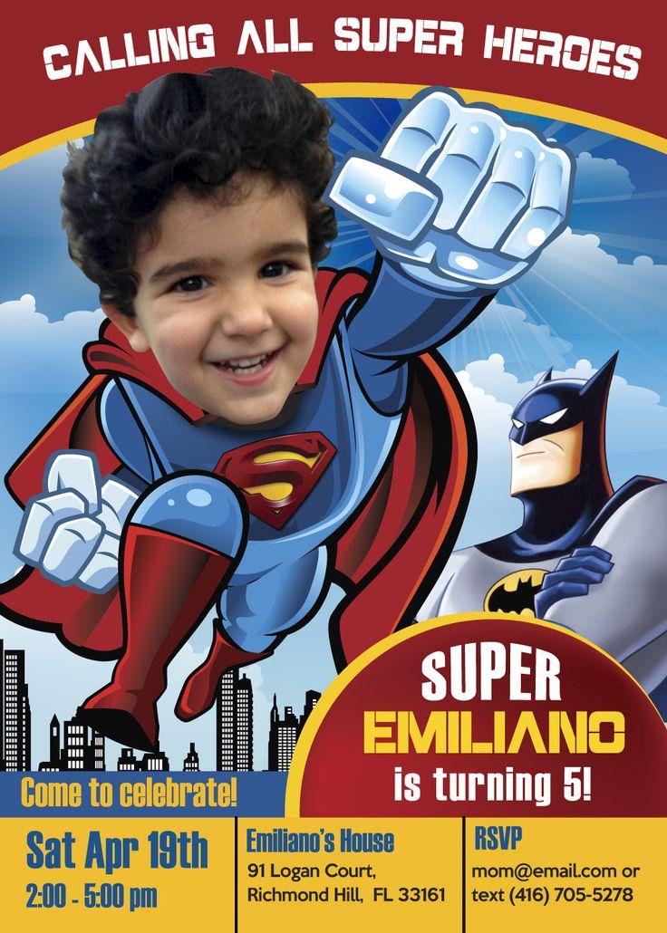 The 25+ best Superman invitations ideas on Pinterest | Superman ...