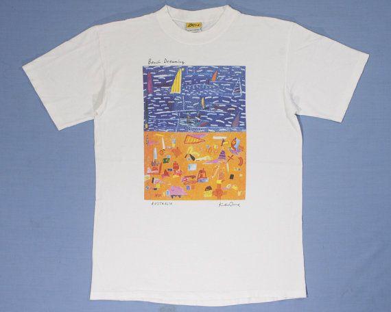 Ken Done Shirt Vintage 90s Pop Art Ken Done 'Beach by Aazu on Etsy