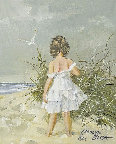 carolyn blish: Watercolor Art, Carolyn Blish, Art Watercolor, Artsy Artsy, Posts, Sea, Art Children, Beaches Art, The Beaches