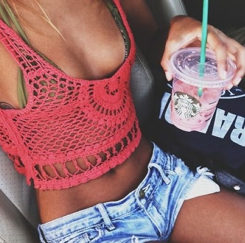 crotchet tank top - summer - wear with bathing suits.