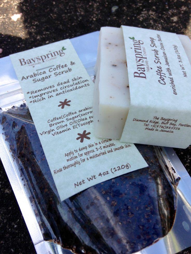 Coffee & sugar scrub & coffee soap scrub for a smooth and moisturised skin.