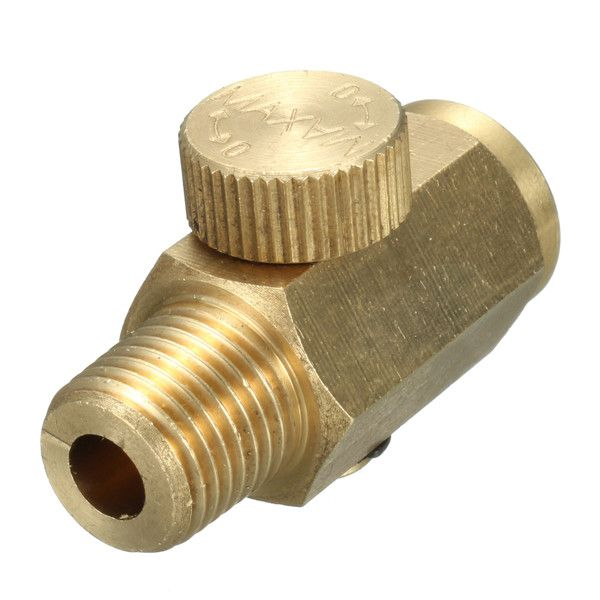 "1/4 Inch NPT Air Pressure Valve Inline Regulator Solid Brass Compressed Air Pressure Valve  Description 1/4 Inch NPT Air Pressure Valve Inline Regulator Solid Brass Compressed Air Pressure Valve Specifications: Material: Solid Brass Thread: 1/4"" NPT Connection Size:1/4"" Flow: 20 (CV) Operating temperature: 10 () Working pressure: 0.15 (mpa) Total length: 37mm/1.46"" Compressor regulator: Brass Regulator Quantity: 1pc Features: - All brass construction. - With 1/4"" female NPT threads on one…"