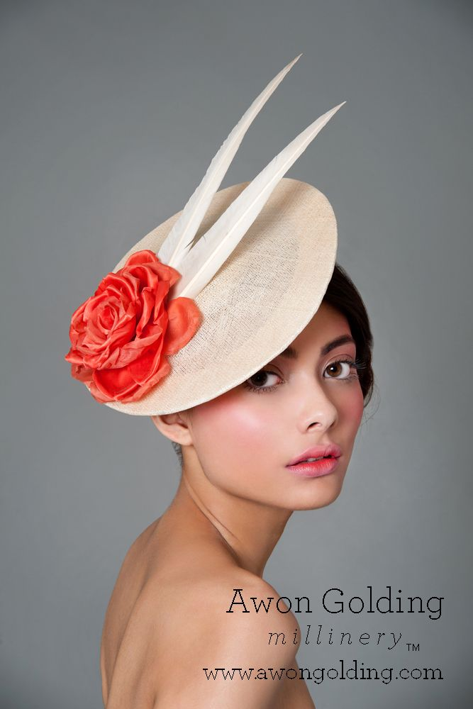 Rose disc - Awon Golding Millinery www.awongolding.com #hats #millinery