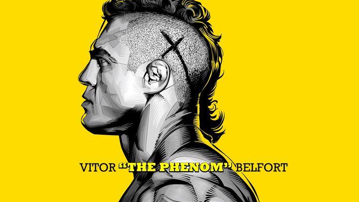 "Vitor ""The Phenom"" Belfort - Vector Illustration"