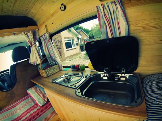 The Colours And Natural Materials On This Van Conversion Are Nice