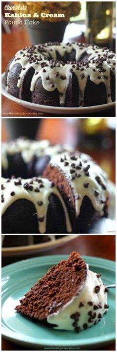 Home-made cocoa Chocolate Kahlua And Cream Bundt Cake...  Home-made cocoa Chocolate Kahlua And Cream Bundt Cake Home-made cocoa Chocolate Kahlua And Cream Bundt Cake @ItsNutella & Recipe At http://ift.tt/1hGiZgA