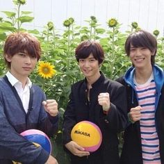 "Ryo Yoshizawa, Yudai Chiba, Taishi Nakagawa, BTS photo, J drama, sports comedy, ""Suikyu Yankees(Water Polo Yankees)"", 2014. Plot & Ep.1-10: http://dramanice.com/drama/suikyu-yankees-detail [Eng. Sub] So funny n nice drama!!!"