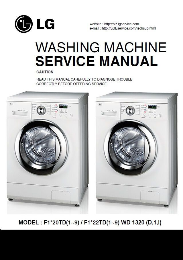 Lg Wd13020d1 Washing Machine Service Manual Technicians Guide Washing Machine Service Washing Machine Manual Washing Machine