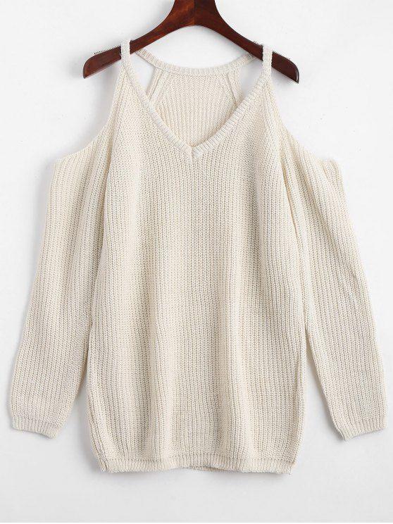 Up to 70% OFF!  Cold Shoulder Plain Longline Sweater.  Zaful,zaful.com,zaful online shopping, sweaters&cardigans,sweater,sweaters,cardigans,choker sweater,chokers,chunky sweater,chunky,cardigans for women,knit,knitted,knitting,knitwear,cardigan,cardigan outfit,women fashion,winter outfits,winter fashion,fall outfits,fall fashion. @zafulbikini Extra 10% OFF Code:zafulbikini
