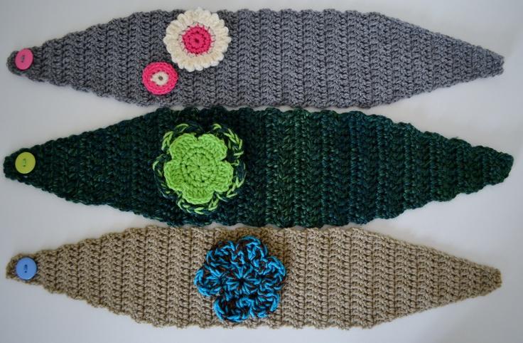 Crochet Pattern Central Baby Headbands : Crochet ear warmers Ems Little Gems - My Crochet ...