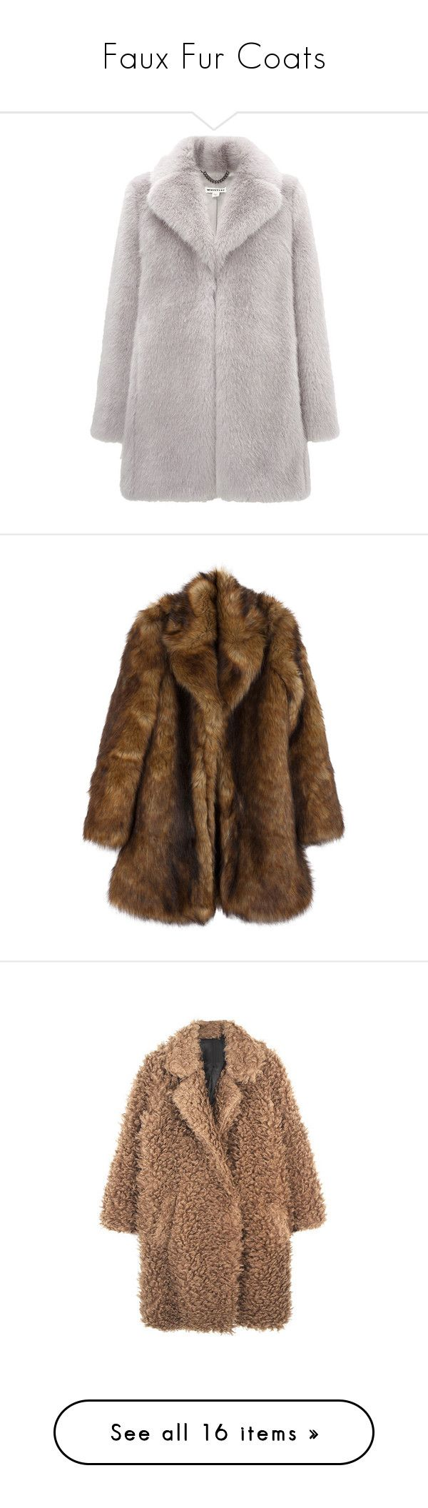 """""""Faux Fur Coats"""" by fashionlandscape ❤ liked on Polyvore featuring outerwear, coats, jackets, coats & jackets, lilac, faux fur coat, whistles coat, imitation fur coats, fake fur coats and tops"""