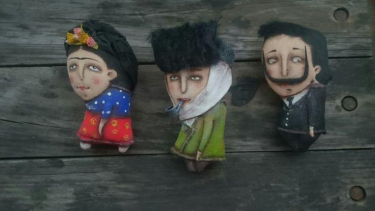 художники, текстильные брошки Юлии Старовойтовой.