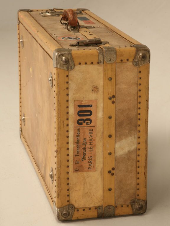 1940's French suitcase