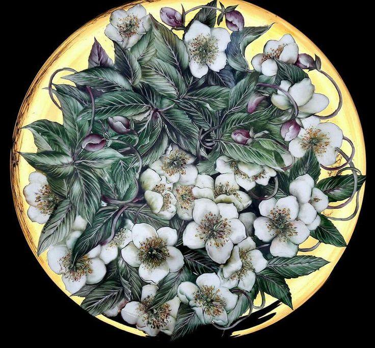 Les 1648 meilleures images propos de handpainted for Carrelage quadrilobe