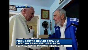 Galdino Saquarema 1ª Página: Papa Francisco ganhou presente de Fidel Castro neste domingo Fidel Castro deu ao Papa um livro do brasileiro Frei Beto