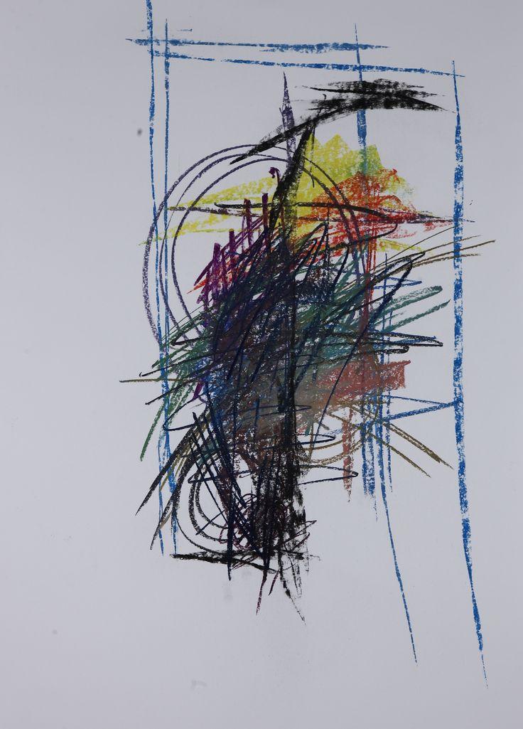 Michael Třeštík, Chaos, No. 12, 2016, pastel A1