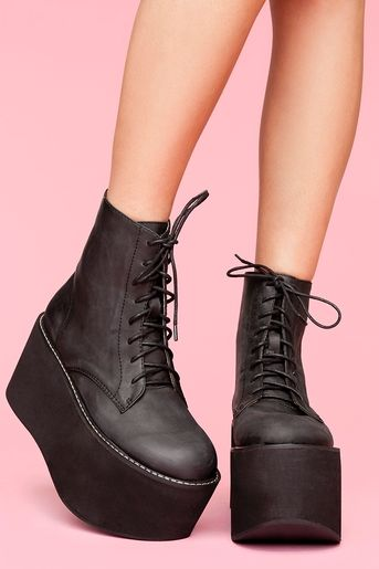RiotBoot by JeffreyCampbell @NASTY GAL $188.00--I want to say Now you too can have boots like Abby! LOL