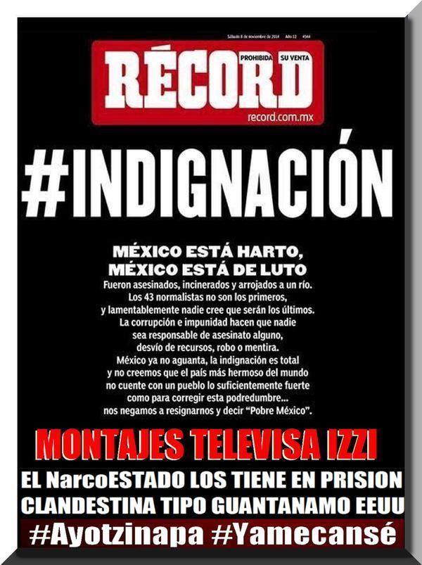 pic.twitter.com/CRbxKmRtiW @EPN @AristotelesSD #GritoDePaz No culpen a #REDes, el miedo que tiene la gente #Ayotzinapa es #Verdadero #AYOTZINAPA
