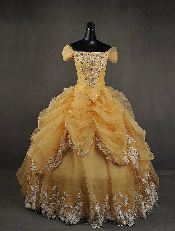 Luxe beauté et la bête Belle adulte Cosplay Costume robe robe