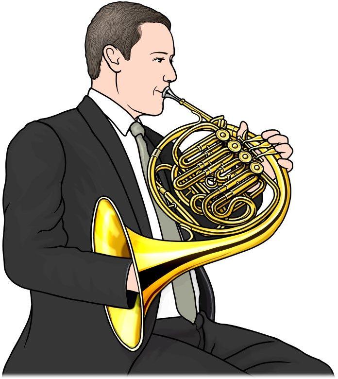 管楽器:フレンチ ホルンの演奏