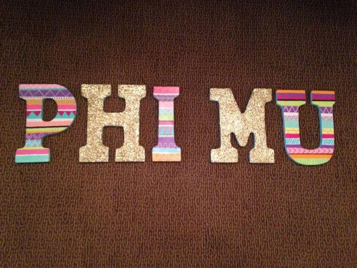 uhphimu:  Phi Mu letters!