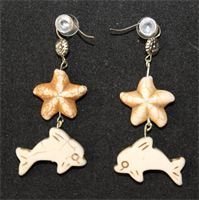 Swahili - dubbel sjöstjärna & delfin - vit