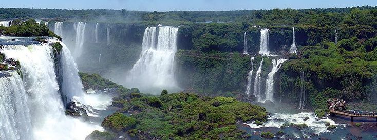 Panorama of the Iguazu waterfalls in Brazil. Description from environment-ecology.com. I searched for this on bing.com/images