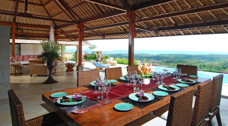 Villa Puri Balangan ocean view dinning