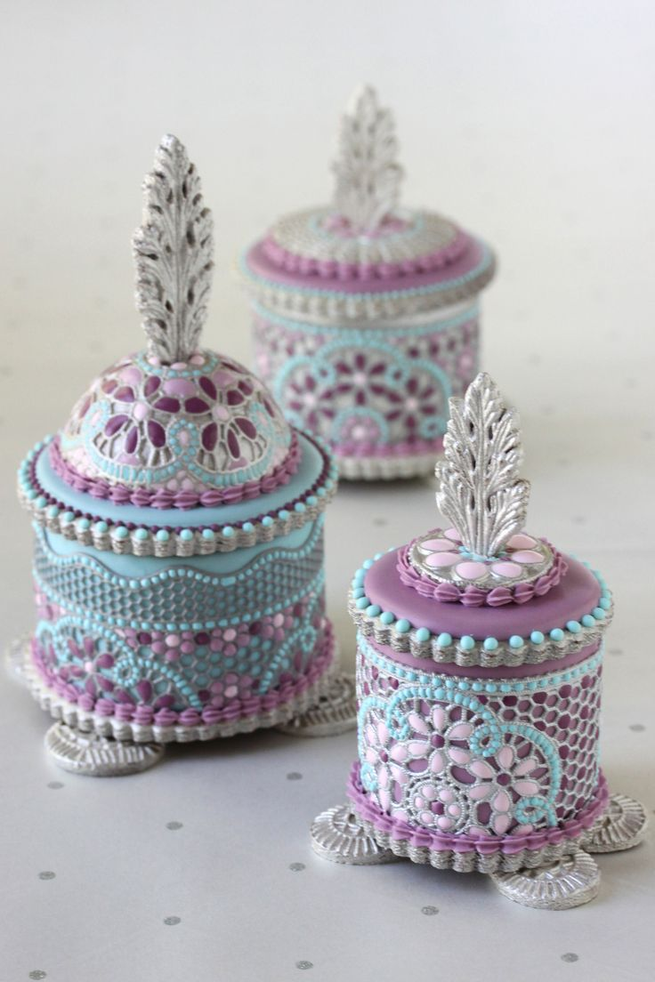Fancy Enamel Filigree Cookie Boxes | Julia Usher | Recipes for a Sweet Life