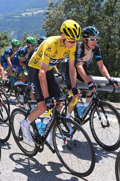 #TDF2016 / Stage 9 Christopher FROOME Yellow Leader Jersey / Geraint THOMAS / Vielha Val d'Aran Andorra Arcalis 2240m/ TDF /
