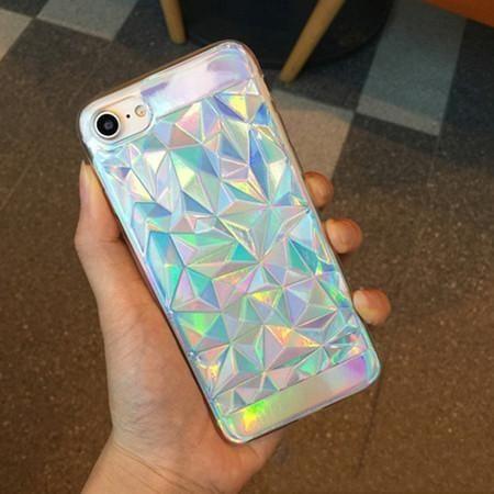 Luxury Bright Hologram Phone Case For iPhone 5 5S SE 6 6S 7 Plus