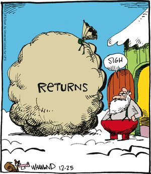 Your work is not done yet.   Read Reality Check #comics @ http://www.gocomics.com/realitycheck/2013/12/25?utm_source=pinterest&utm_medium=SocialMarketing&utm_campaign=pin #GoComics #webcomic #Santa