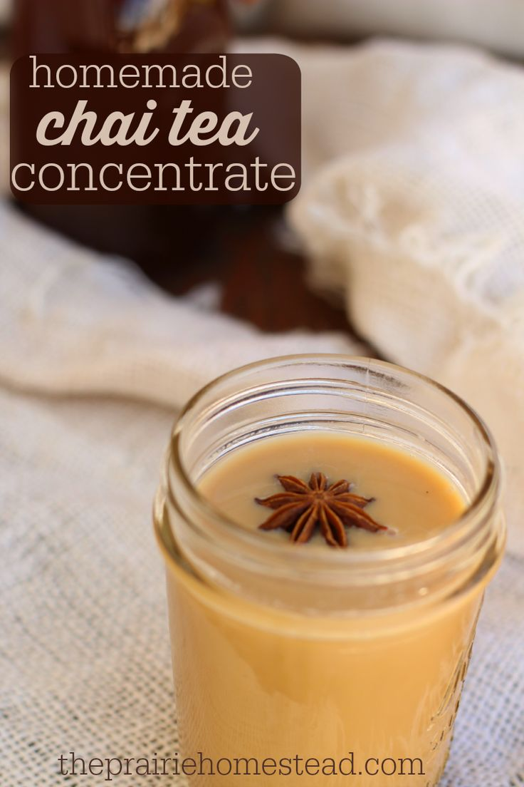 homemade chai tea concentrate. For low carb use stevia or erythritol.