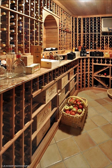Very nice...but who puts apples in a wine room?  People, make sure your props are logical