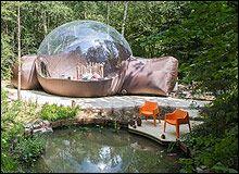 De meest bijzondere slaapplekken in Nederland en Belgie, zoals deze: Slapen onder de sterren in een Luchtbel