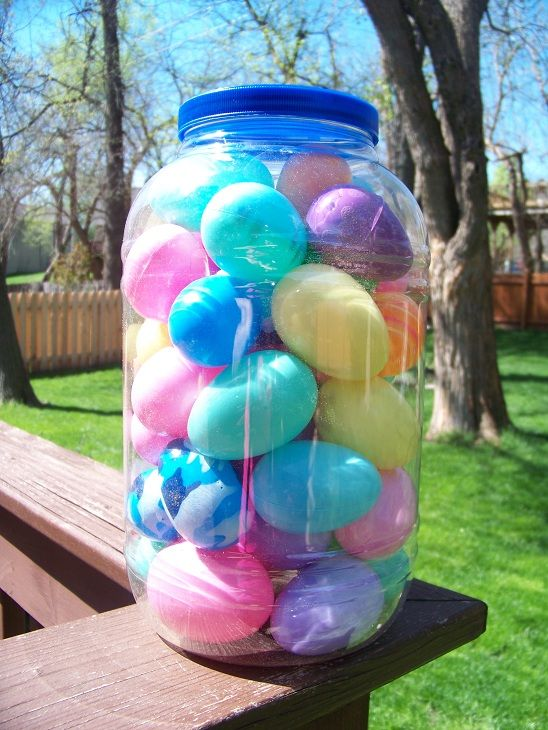 10 Fun ways to use those  plastic eggs (perfect to do this week)!