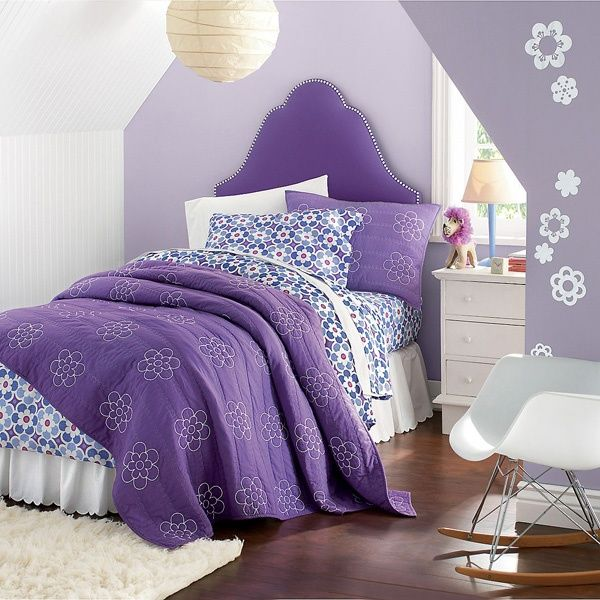 K Said She Wants A Purple Bedroom..Girls Bedding ~ Flower Quilt