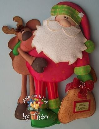 Santa and reindeer with pattern (2)