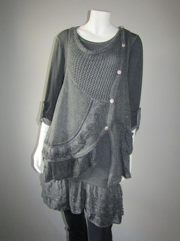 Lagenlook grey dress