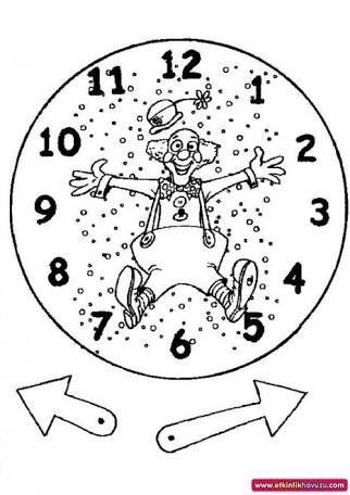 okul öncesi sanat etkinliği saat yapımı ile ilgili görsel sonucu