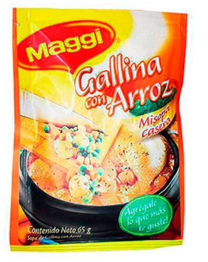 6x Pack Maggi Chicken with Rice Soup Lot- Maggi Sopa Gallina con Arroz Colombia