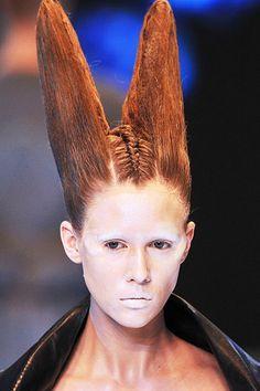 Image result for alexander mcqueen amazon runway makeup