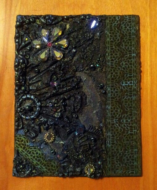 Jewelled Mixed Media Collage
