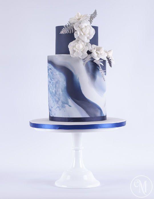 Wedding-Cake-Trends-Marble-modern-wedding-cake