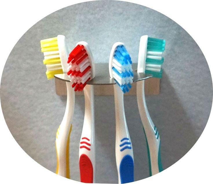 Zahnbürstenhalter R aus Edelstahl für 4 Zahnbürsten Aufsteckbürsten oral b
