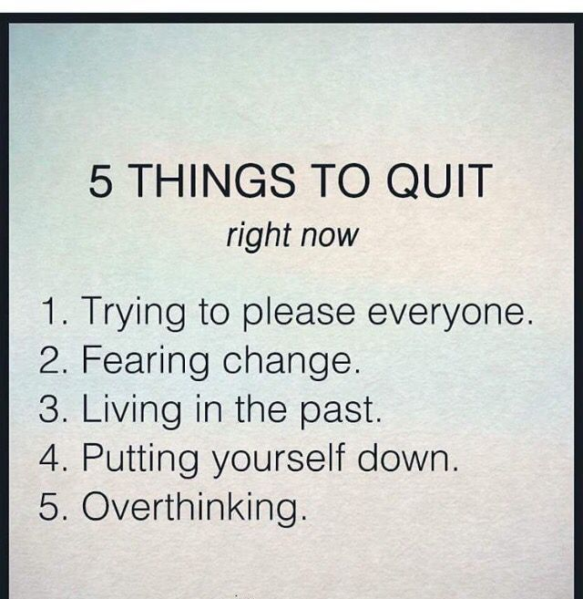 Take control of your life today by starting these 5 things… it takes a conscious effort at first