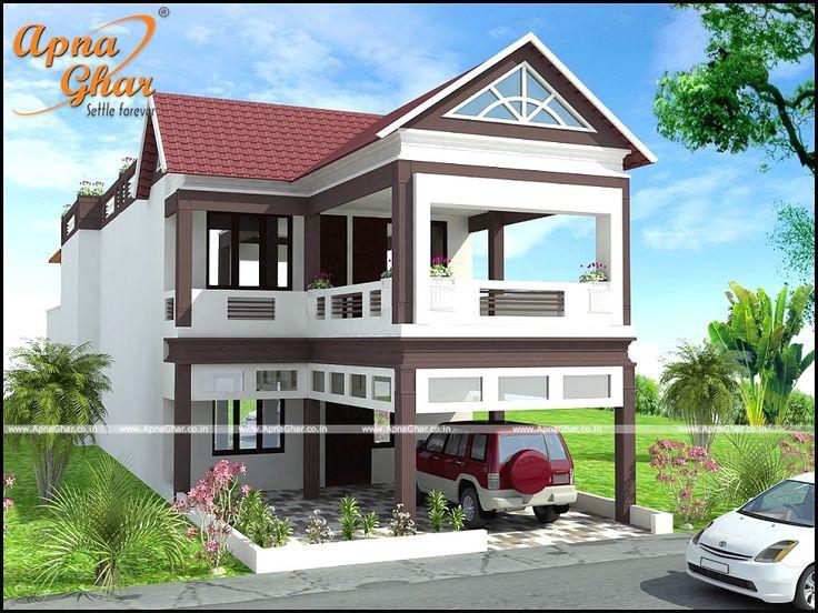 5 bedroom duplex 2 floor bungalow design area 336m2 for Indian bungalow plan