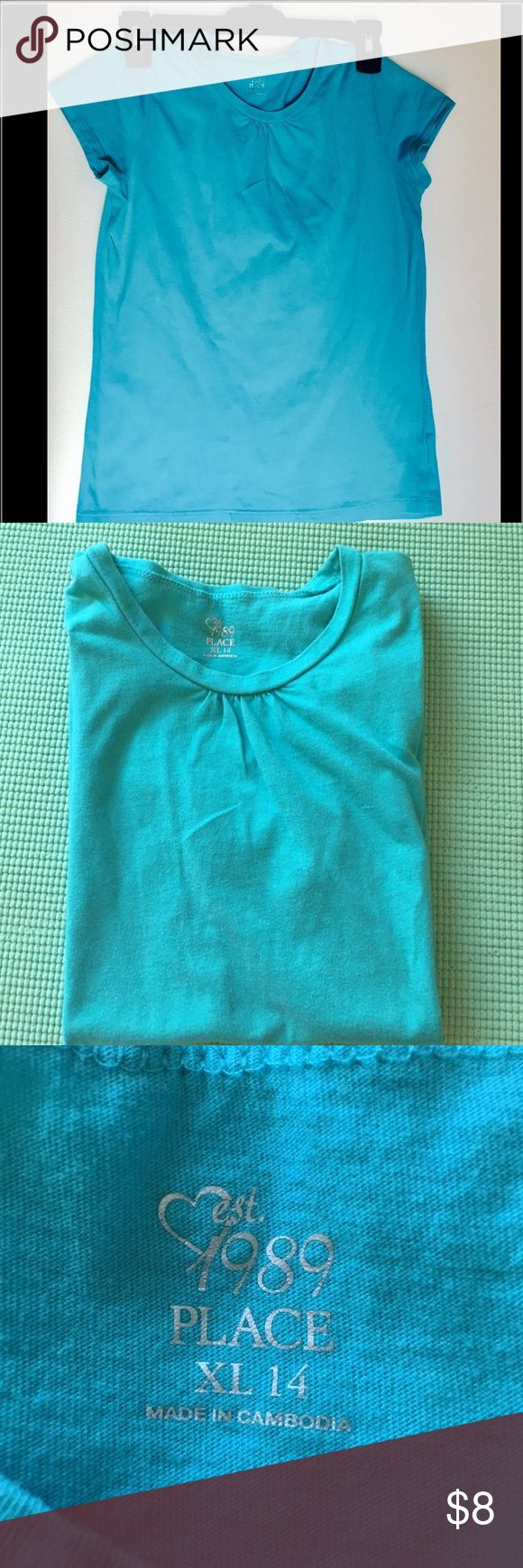 Children's Place 'Estd 1989' Turquoise Top Turquoise Top for girls Children's Place Shirts & Tops Tees - Short Sleeve